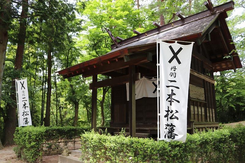 福島県二本松市 霞ヶ城跡(二本松城)本丸からの下り 紫陽花の名所