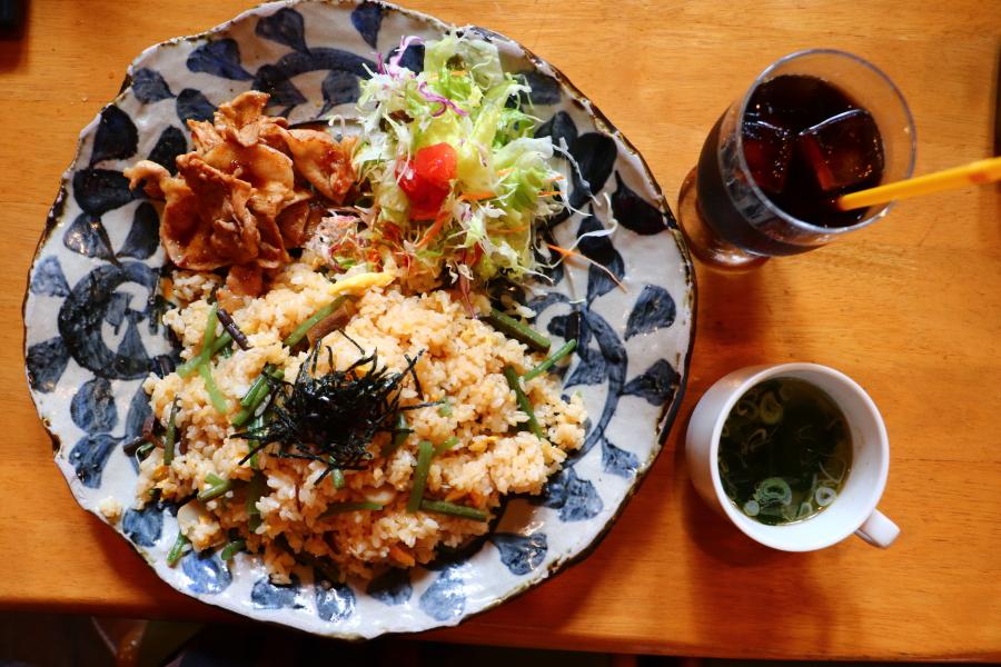 いわき市 美味しいおすすめグルメ・ランチ「レストラン木木(もくもく)」山菜ピラフ