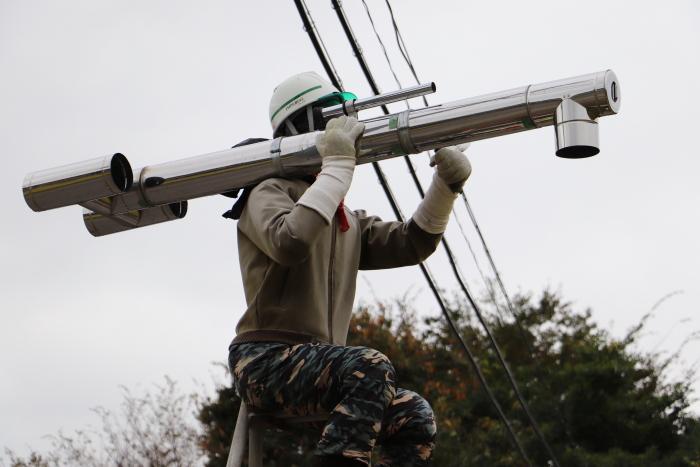 福島県郡山市下白岩町 田んぼの「かかし」がとんでもなく完成度が高くて驚きました!